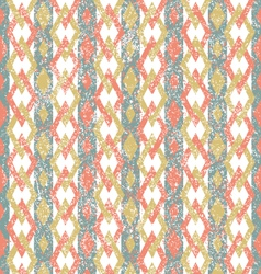 Pattern with color rhombus vector