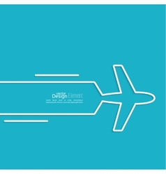 Icon airplane vector
