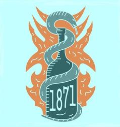 Alcohol emblem lightvs vector