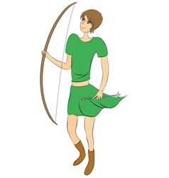 Female archer vector