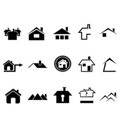 House icons set vector