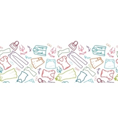 Wardrobe clothing horizontal seamless pattern vector