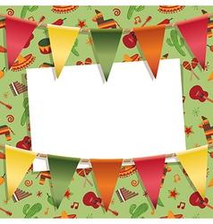 Mexican party card vector