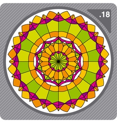 Abstract colorful circular decorative ornament vector