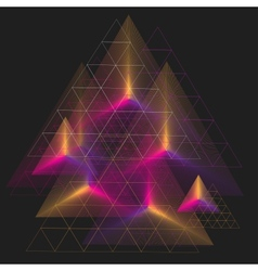 Spectrum geometric background made of triangle vector