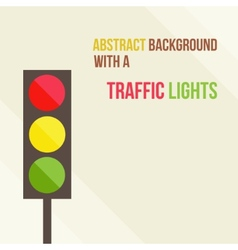 Abstract background with a traffic lights in a vector