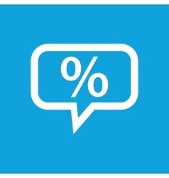 Percent message icon vector