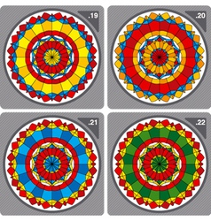 Set of colorful circular ornaments vector