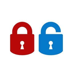 Lock-unlock icon vector