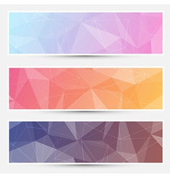 Modern crystal structure banners web vector
