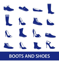 Boots and shoes icons eps10 vector
