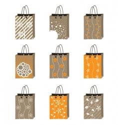 Shopping bag set vector