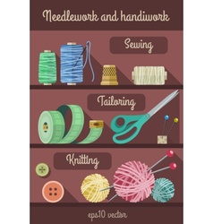 Set of tools and materials vector