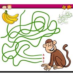 Path or maze cartoon game vector