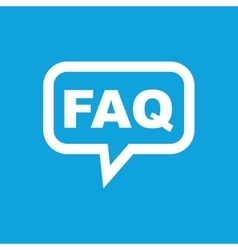 Faq message icon vector