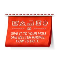 Follow washing instructions vector