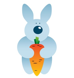 Cartoon hare and carrot vector