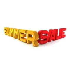 Summer sale large three-dimensional letters on a vector