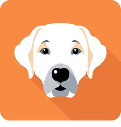 Dog labrador retriever icon flat design vector