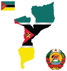 Republic of mozambique flag vector