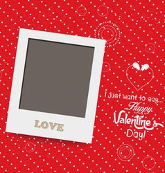 Blank instant photo frame lovely on red background vector