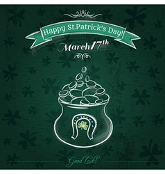 Green card for st patricks day and pot vector