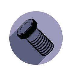 Three-dimensional bolt spare part used in vector