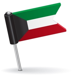 Kuwait pin icon flag vector