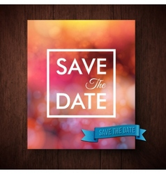 Eyecatching bold simple save the date template vector