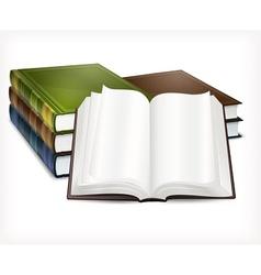 New books open on white vector