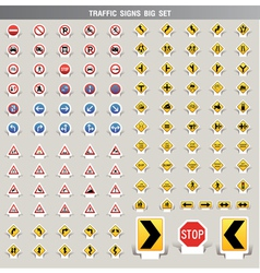 Traffic signs big set vector