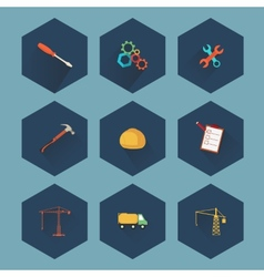 Construction and real estate icon set vector