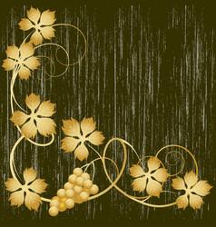 Gold grapevine vector