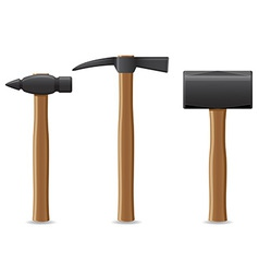 Tool hammer 08 vector