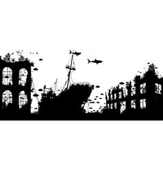 Wreckage reef vector
