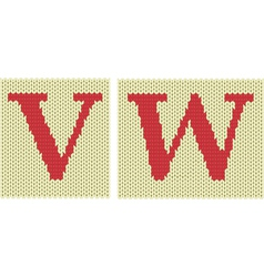 Knitted letters vector