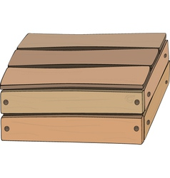 Wooden box vector