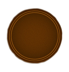 Round leather badge vector