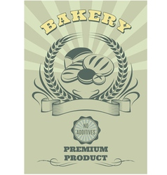 Bekgraund logo for baking and set of bread vector