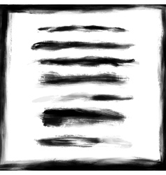 Splash frame and brush strokes design elements vector