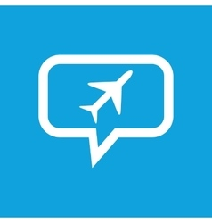 Plane message icon vector