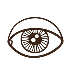 Eye rough symbol vector