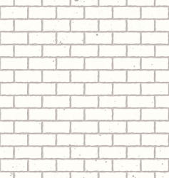 White seamless brick wall vector