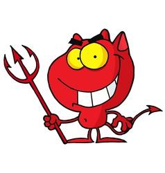 Cartoon character halloween devil vector