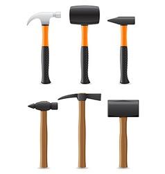 Tool hammer 09 vector