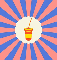 Food and drink theme soda vector