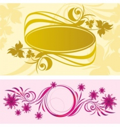 Two vignette vector