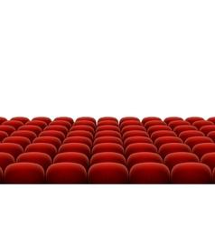 Red cinema theatre seats vector