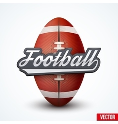 Premium american football label vector