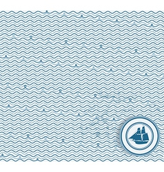 Sea wave hand-drawn pattern waves background vector
